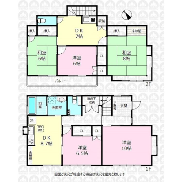 全居室6帖以上を確保した120.48m2の5DK(約36.44坪)