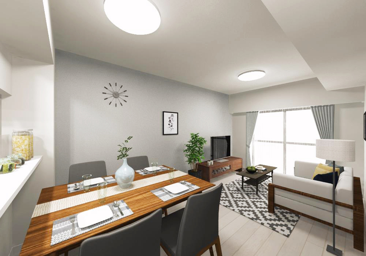 各居室の一部壁面に上質なアクセントクロスを貼り分け、さりげなく個性を演出