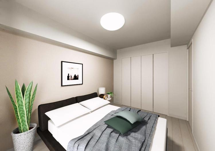 主寝室に使いたい洋室には、ワイドなクローゼットが付いています