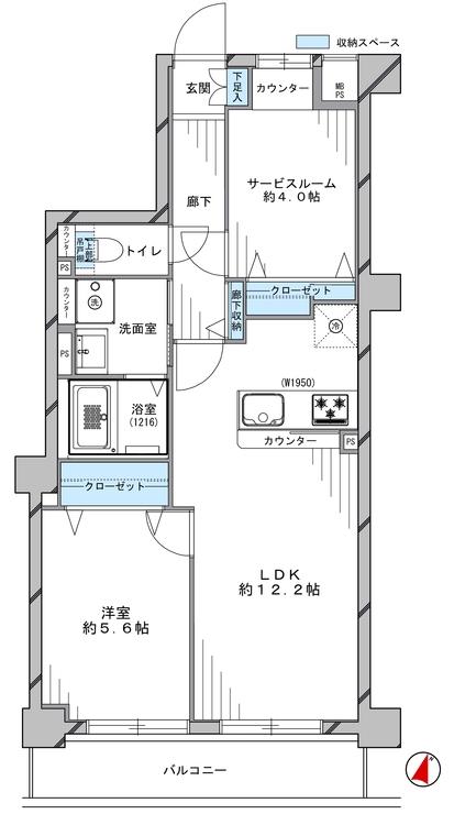 柱が少なく、家具の配置がしやすいスッキリとした間取りです