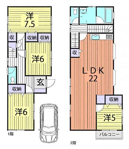 朝霞市根岸台4丁目 中古住宅の物件画像