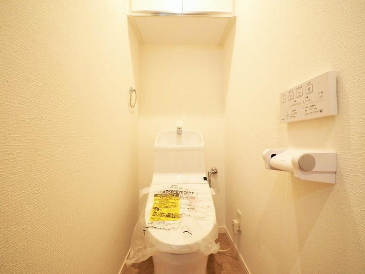温水洗浄便座機能付きトイレ