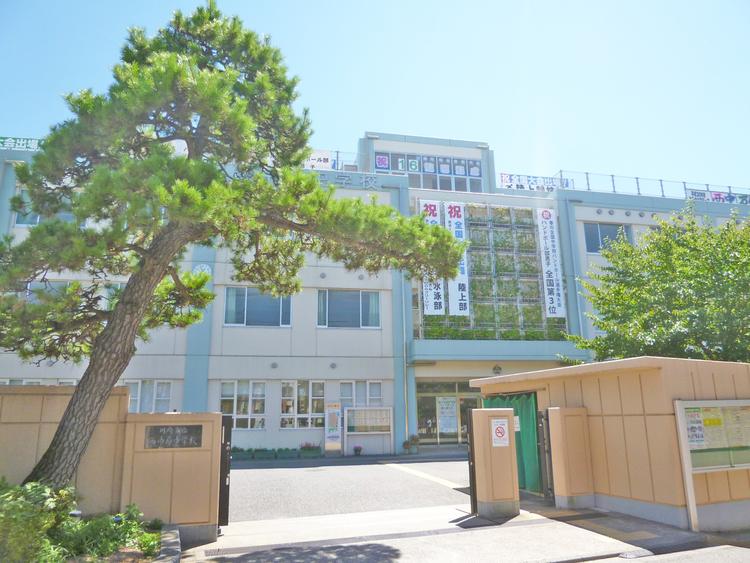 川崎市立西中原中学校 距離1400m