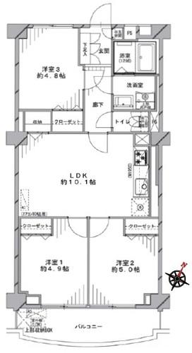 稲毛東映マンシオンA棟の間取り
