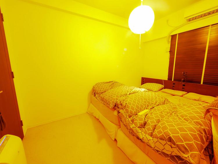 寝室はベットが2台配置出来、ウォークインクローゼットで安心収納。