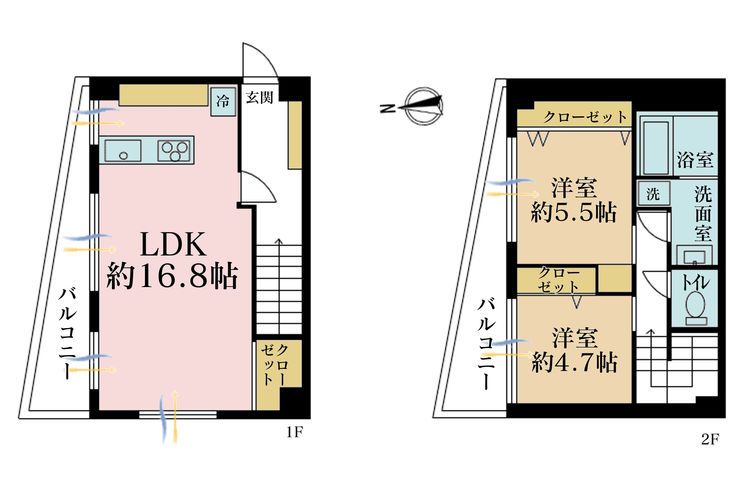 3LDK、価格5280万円、専有面積78m2