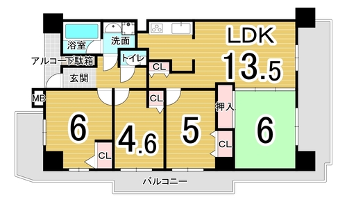 コスモ城東野江ロイヤルフォルムの物件画像