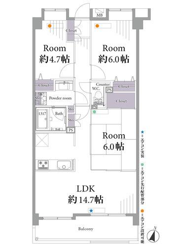 バームステージ竹の塚(205)の物件画像