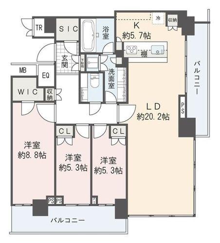 ザ・パークハウス晴海タワーズ クロノレジデンス(4611)の物件画像