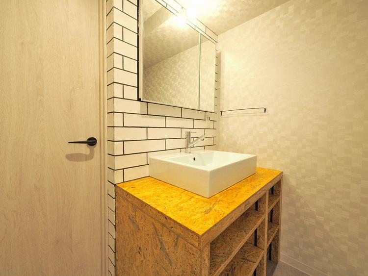 デザイン性のあるお洒落な洗面台で朝の身支度を