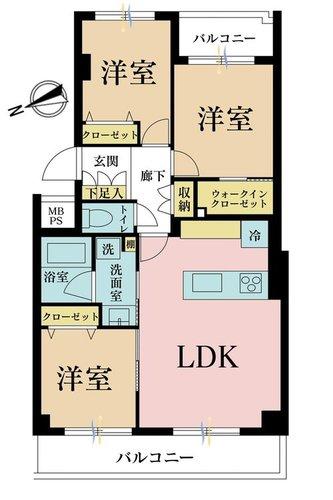 日商岩井桜新町マンションの物件画像
