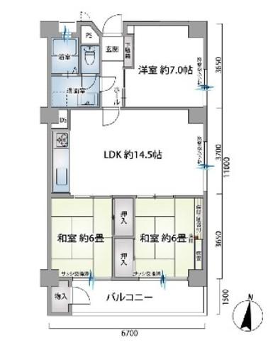 勝田台マンション 7階の物件画像