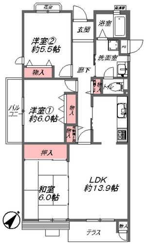 コンフォール学園緑が丘第2 参弐号棟(103)の画像