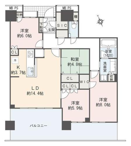 プラウドタワー東雲キャナルコート(5105)の物件画像