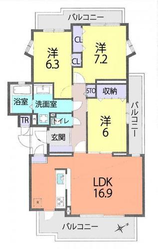 松戸六高台ベルパティオ6番館の物件画像