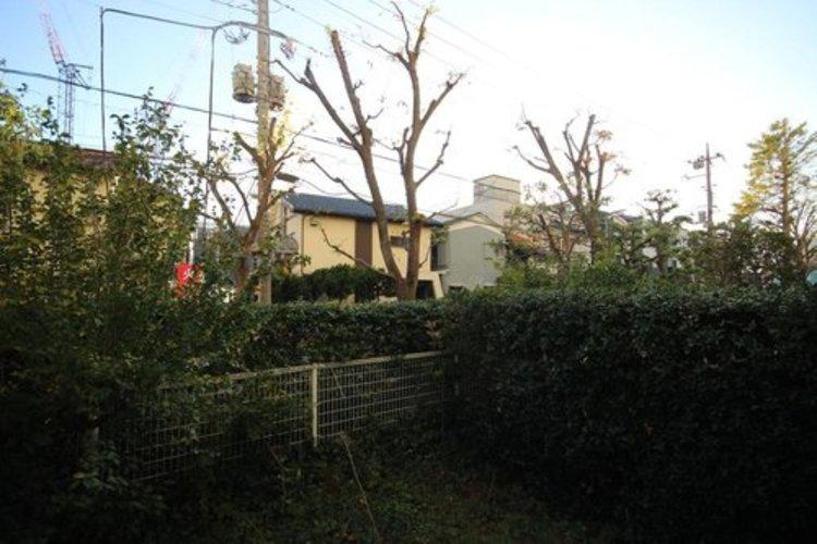 きれいに整えられた植木によって、外部からの視線を遮り、プライベートはしっかり確保できてます。