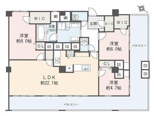 シャトー赤坂台(701)の物件画像