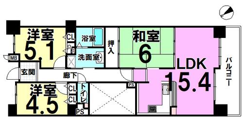 ファミール平野 二番館の画像