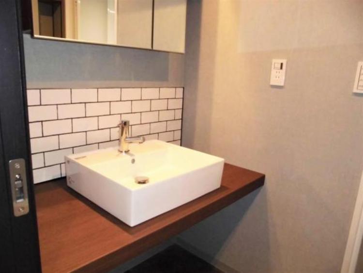●まるでホテルのような洗練された洗面台です!