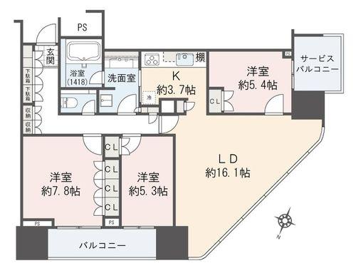 二子玉川ライズタワー&レジデンス(タワーイースト24--)の画像