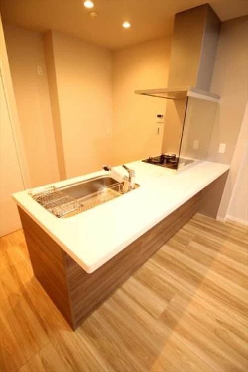 時短アイテム食洗機が標準装備のシステムキッチンです