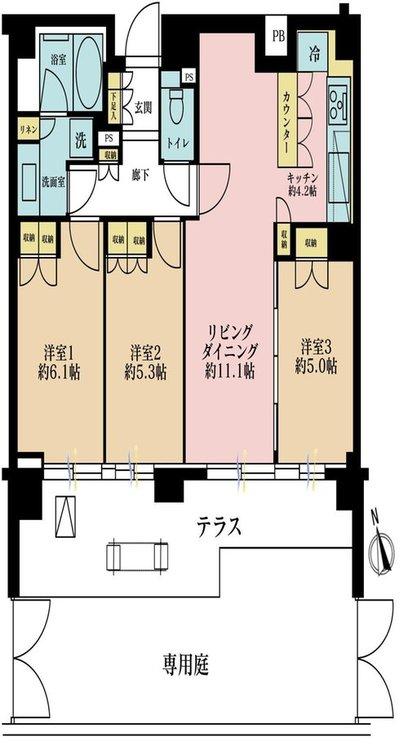 3LDK、価格6780万円、専有面積70.05m2