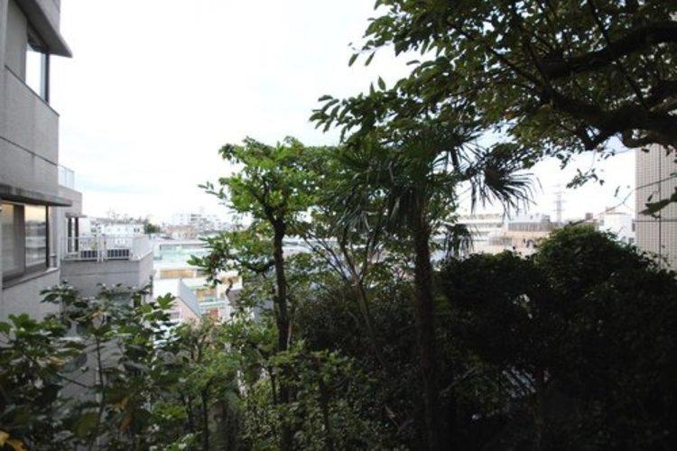 高台で陽当たり・通風・開放感・眺望に恵まれた環境です。周辺は高い建物がなく青い空が遠くまで広がります。
