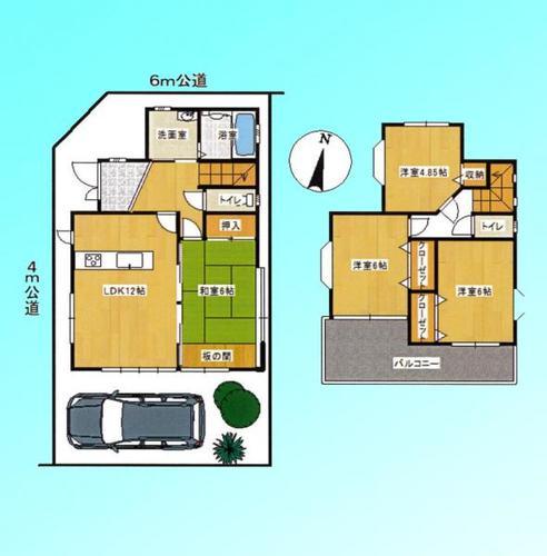 越谷市花田4丁目 学区/花田小・中央中の物件画像