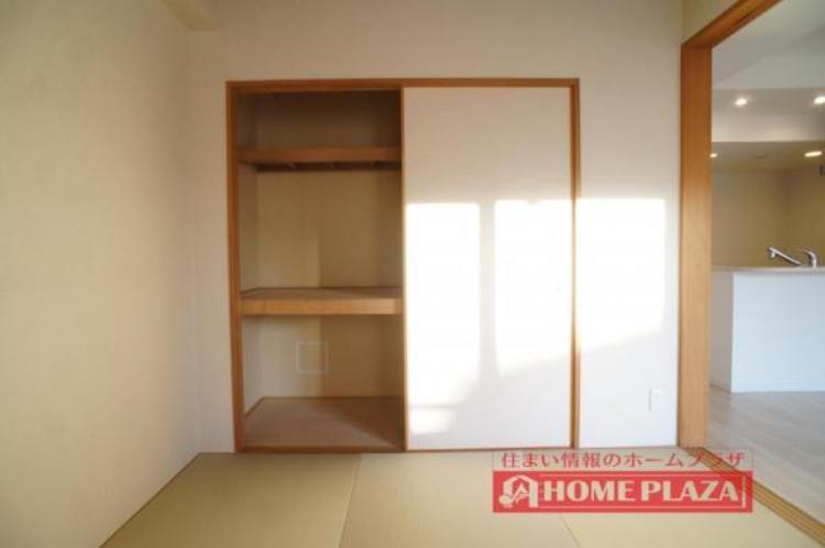 押入はもちろん大容量!お部屋を広くお使い頂くことができます。