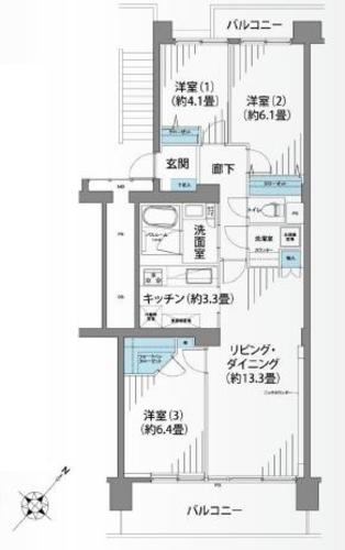大倉山ハイム8号棟の物件画像
