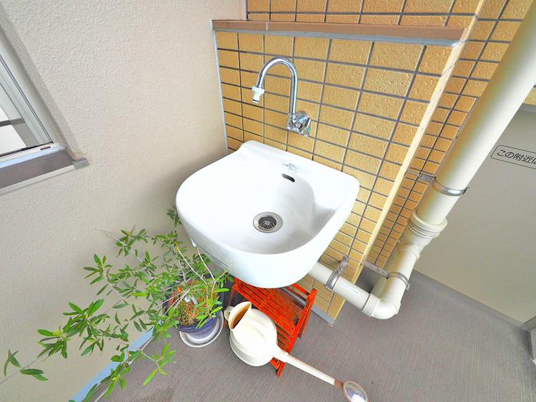 スロップシンク付で植物や家庭菜園の水やりにも便利な設備付きです