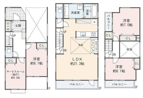 文京区千石3丁目 新築戸建ての物件画像