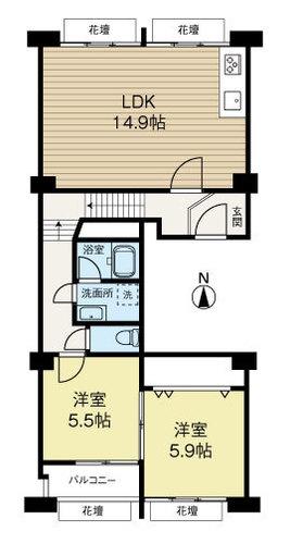 中津リバーサイドコーポD棟の画像