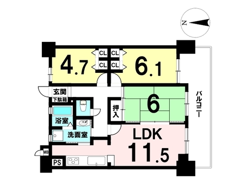 グリーンコーポ野田阪神の物件画像
