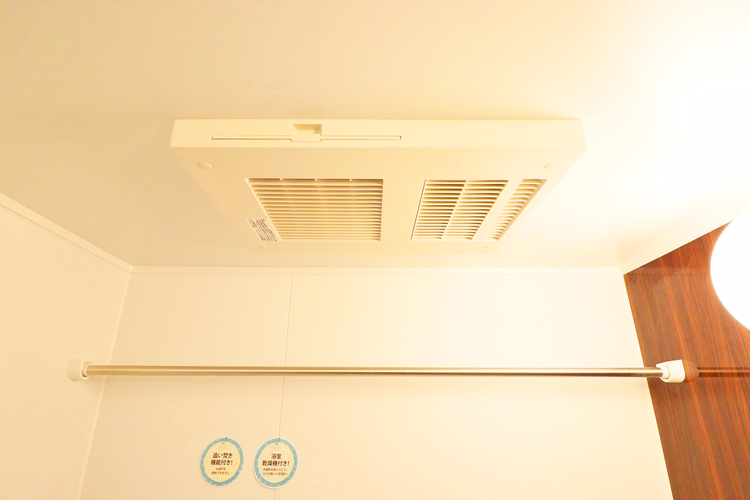浴室暖房乾燥機を完備し、雨天時のお洗濯も安心です