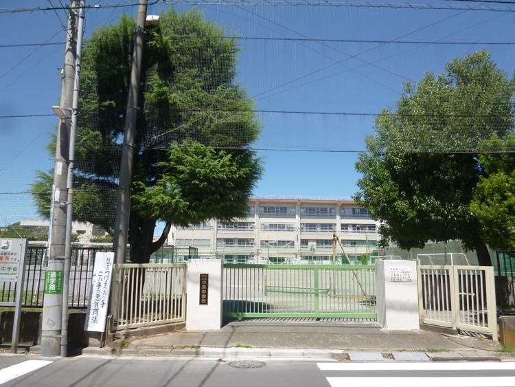 川崎市立中原中学校 距離850m