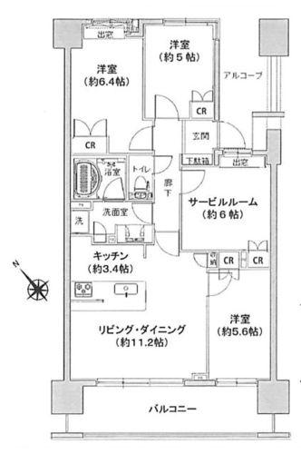 ライオンズ聖蹟桜ヶ丘パシーナの物件画像