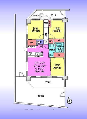 コスモ武蔵浦和クレストの物件画像