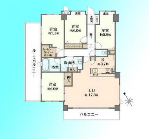 シュロス川口弐番館 学区/朝日西小・十二月田中の画像
