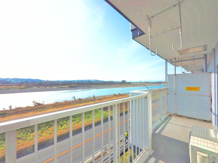 多摩川を一望できる眺望