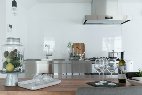テーブル ダイニングテーブル 料理 作業台 ワークスペース あらゆるシーン グリル付き 3口コンロ 広いシンク ステンレス製キッチン 料理